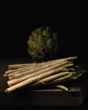 Still Life with Asparagus and Artichoke After Coortes.JPG