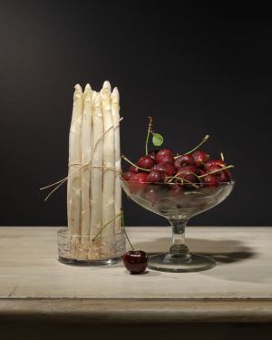 Asparagus and Cherries.JPG