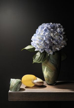 Hydrangea and Shells.JPG